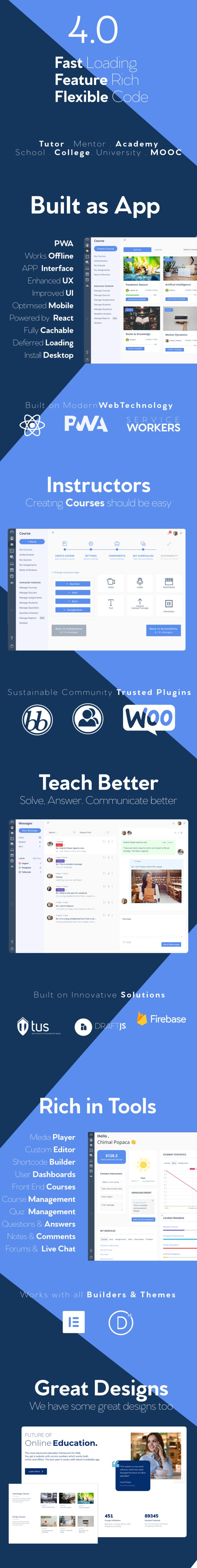 WPLMS Learning Management System for WordPress, Education Theme - 1