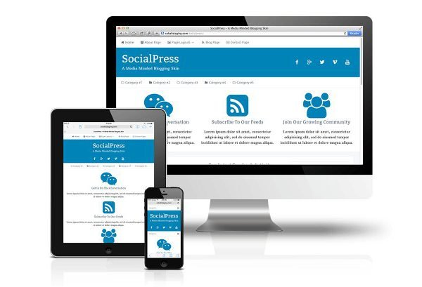 CobaltApps SocialPress Skin for Dynamik Website Builder