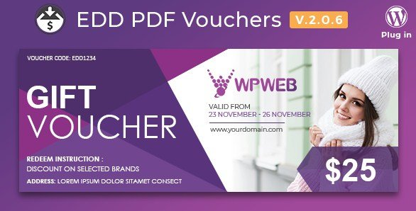 Easy Digital Downloads - PDF Vouchers
