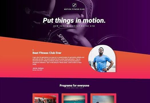 Elementorism Motion Landing Page