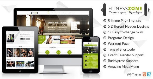 Fitness Zone - Gym & Fitness Theme