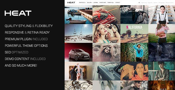 Heat - Portfolio WordPress Theme