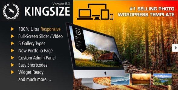 KingSize Fullscreen Photography Theme
