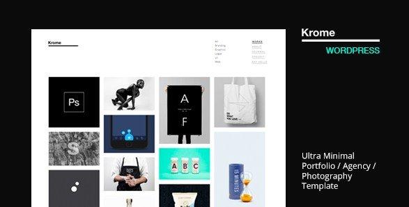 Krome - Minimal Creative Portfolio WordPress Theme