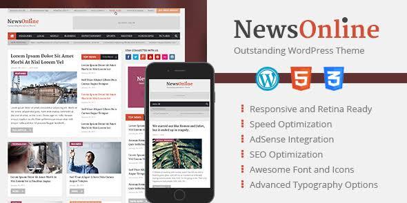 WPLocker-MyThemeShop NewsOnline WordPress Theme