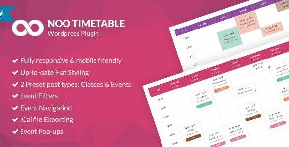 Noo Timetable - Responsive Calendar & Auto Sync WordPress Plugin