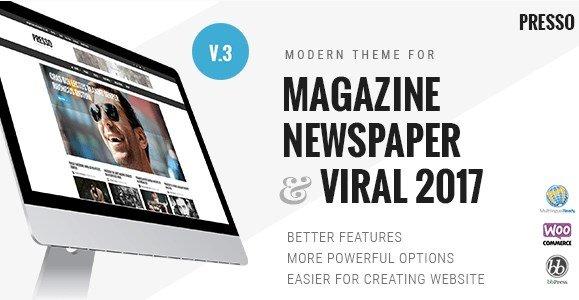 PRESSO - Modern Magazine Newspaper Viral Theme