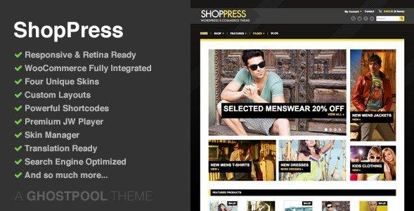ShopPress - Responsive WooCommerce Theme