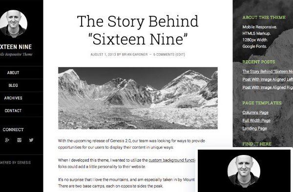 StudioPress Sixteen Nine Pro Theme