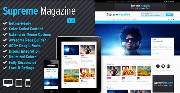 Supreme - Retina Responsive Magazine/Blog WP Theme