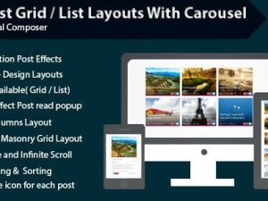 Visual Composer - Post Grid List Layout With Carousel