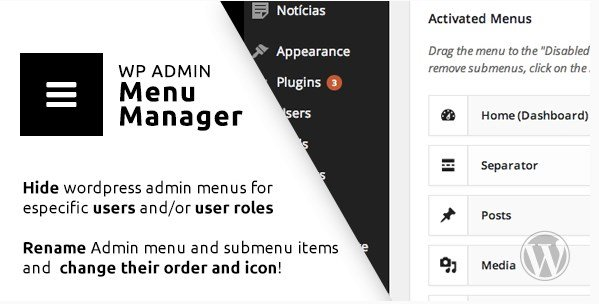 WP Admin Menu Manager