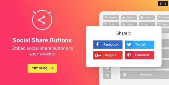 WordPress Social Share Plugin - Share Buttons
