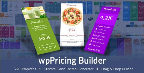 wpPricing Builder - WordPress Responsive Pricing Tables