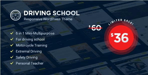 Driving School – WordPress Theme