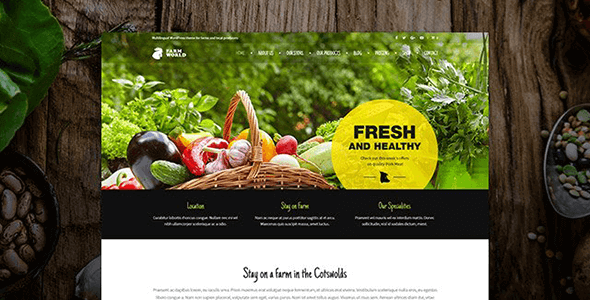 Farmworld - Food & Agriculture WordPress Theme