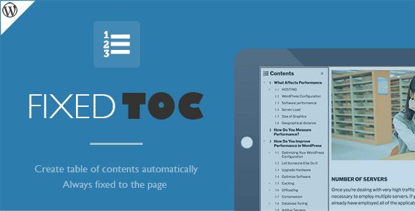 Fixed Toc WordPress Plugin