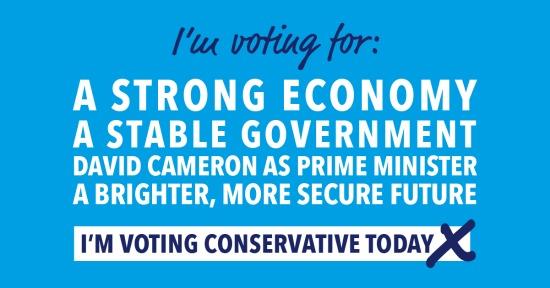 Vote Conservative today