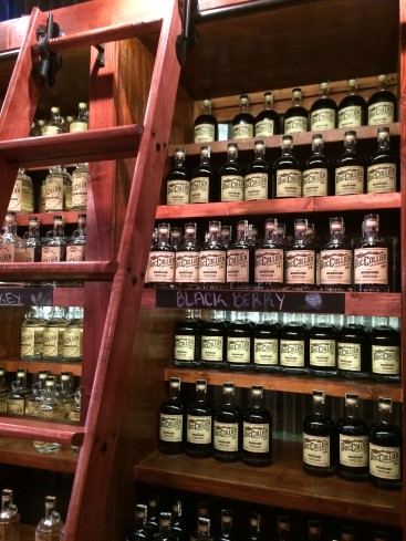 Doc Collier's Moonshine displayed at the distillery.