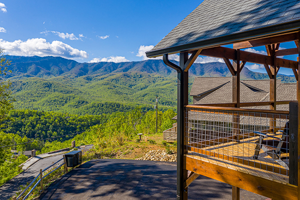 Mountain views and a cabin deck at Heaven's Hill, a Gatlinburg cabin rental