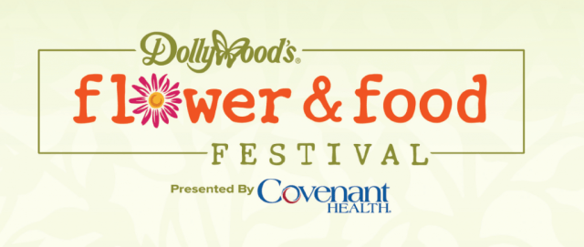 logo for Dollywood Flower and Food Festival
