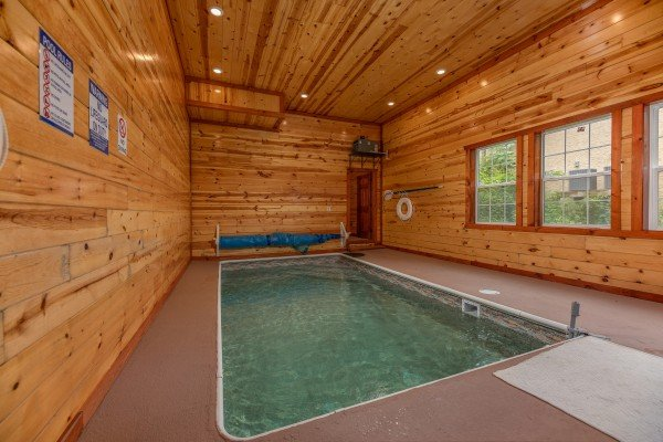 the pool palace - a pigeon forge cabin with an indoor pool