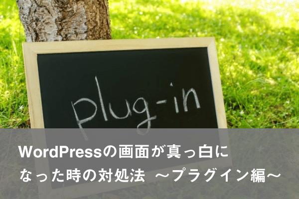 WordPressの画面が真っ白になった時の対処法〜プラグイン編〜