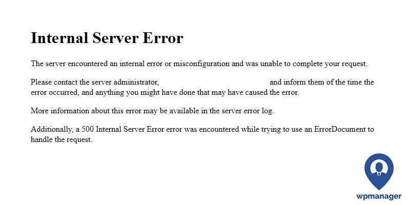 500 Error Wordpress