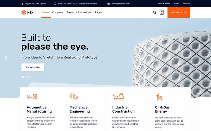 Nex - Factory & Industrial WordPress