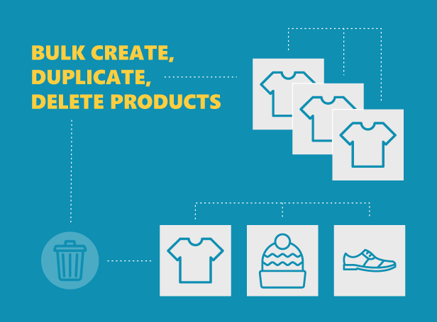 Bulk create/duplicate/delete products