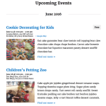 The Events Calendar Upcoming Events