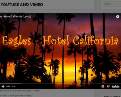 Embed Youtube And Vimeo Video In Responsive Way - REV | WP Missing
