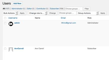 Groups Plugin Users