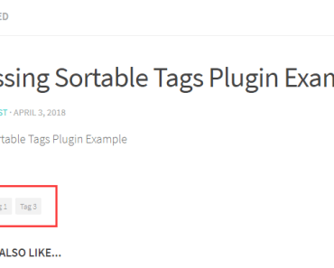 Sortable Tags Post