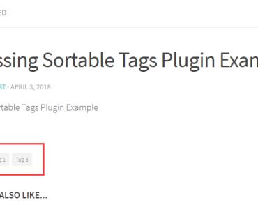 Sortable Tags Post