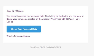 WP GDPR Email