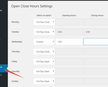 Website Open Close Hours