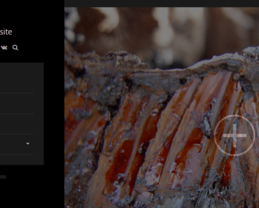 mistu Theme Desktop View