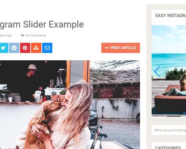 Display Latest Instagram Photos As A Carousel - Easy Instagram Slider