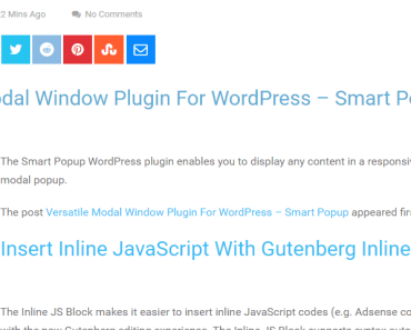 RSS Feed Block For Gutenberg-min
