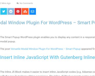 RSS Feed Block For Gutenberg-min