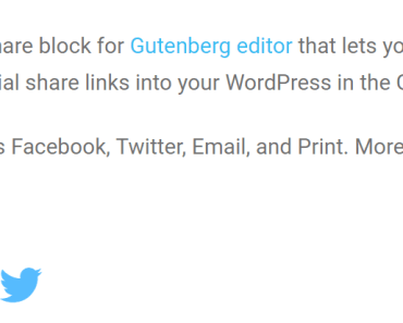 Embed Social Share Links Into Wordpress Using Gurtenberg