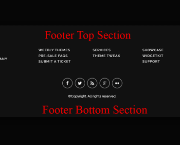 Add Custom HTML Content To Footer