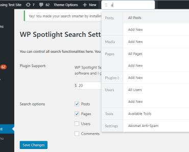 Advanced Search For Admin - WP Spotlight Search