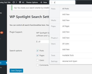 Advanced Search For Admin - WP Spotlight Search