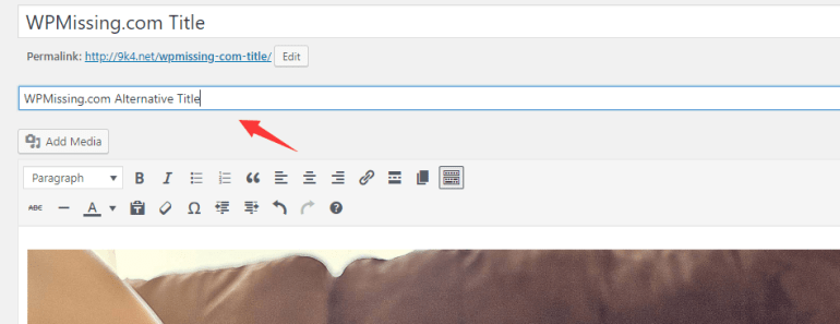 Add Additional Titles To Pages For Organisation Use - Internal Page Title