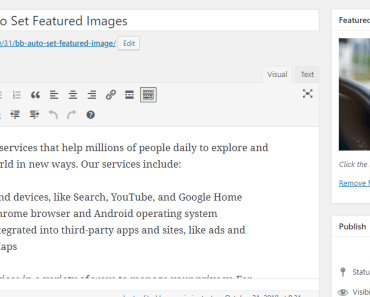 Auto Set Featured Images For Wordpress Posts