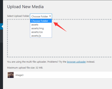 Custom File Upload Folder For Wordpress Select