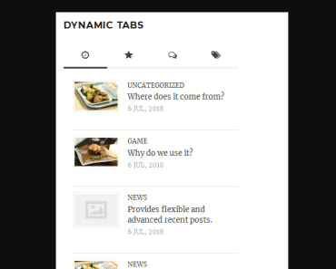 List Posts, Comments, And Tags With Tabs - Recent Popular Comment Tag Widget Preview