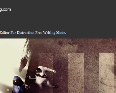 Minimalist Editor For Distraction Free Writing Mode